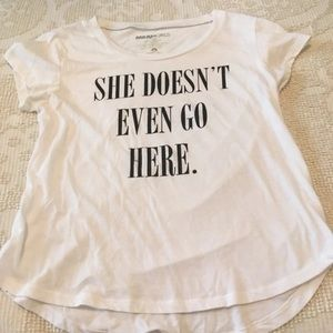 Tops - Mean Girls quote white graphic tee